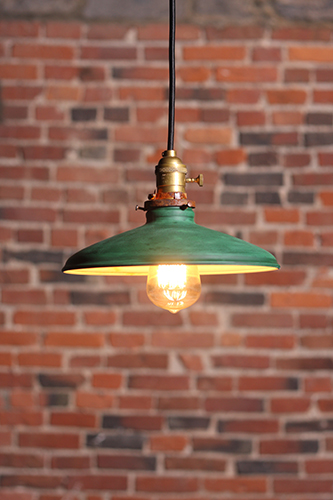 Vintage industrial pendant lamp. UL listed and made in Montreal