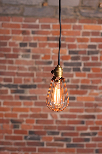 Archer Industrial pendant cage lamp